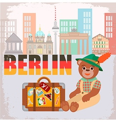 Berlin Bear vector image
