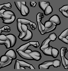 Biceps muscle seamless pattern vector
