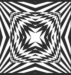 black white geometric burst background striped vector image