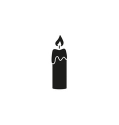 candle of back icon vector image