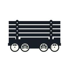 cargo wagon train vector image