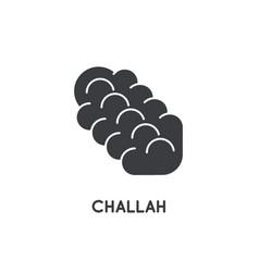 challah bread pastry saturday shabat shalom vector image