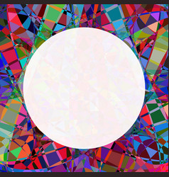 Chaotic colorful broken stained glass seamless vector