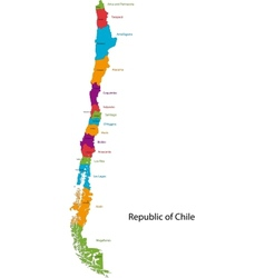 Chile map vector image vector image