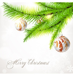 Christmas Tree Ornaments Design vector