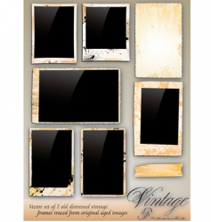 collection vintage photo frames vector image