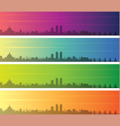 colombo multiple color gradient skyline banner vector image