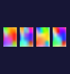 cover templates with colorful holographic effect vector image vector image