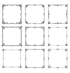 decorative frames and borders abstract rectangle vector image