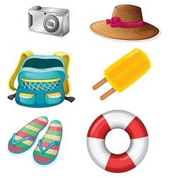 Different things ideal for summer outings vector