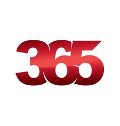 Emblem 365 infinity logo icon design color vector