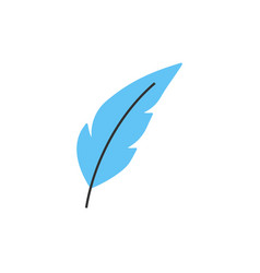 feather pen line icon vector image