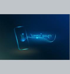 fingerprint wi-fi smartphones futuristic smart vector image