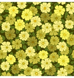 flower field seamless pattern vector image