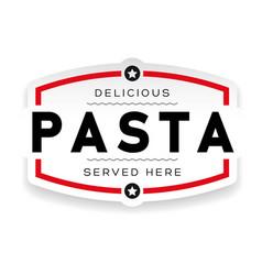 food logo pasta vintage vector image