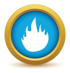 Gold fire icon vector image