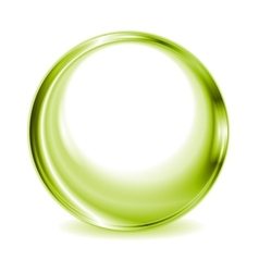 Green blurred circle shape design vector image