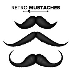 hair mustaches different types hipster vector image