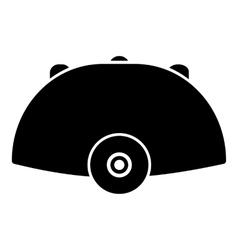 Helmet icon simple style vector