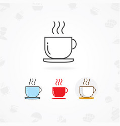 Hot drink icon vector