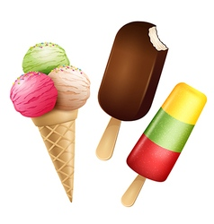 Ice cream isolated vector