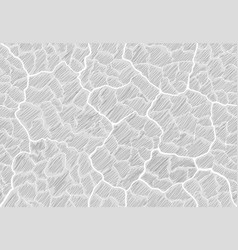 Image cracks shaded in style doodle vector