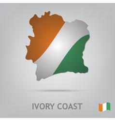 ivory coast vector image