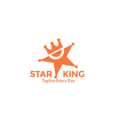King star with crown for super star or rich vector