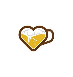 love beer logo icon design vector image