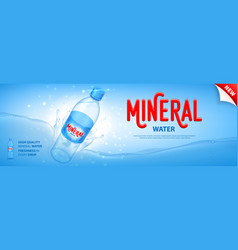 mineral water promo banner vector image