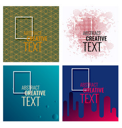 modern abstract circle geometric design pattern vector image