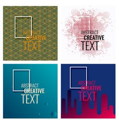 Modern abstract circle geometric design pattern vector