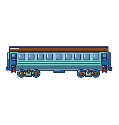 modern passenger wagon icon cartoon style vector image