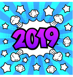 New year 2019 poster vector