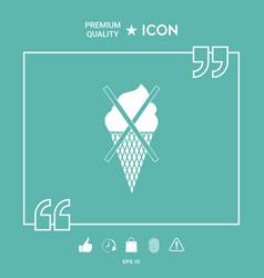 no ice cream symbol icon vector image