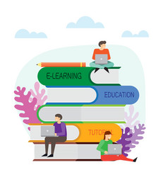 Online education concept online learning vector