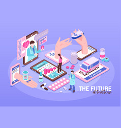 online medicine vector image