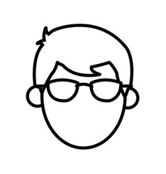 outlined head male faceless image vector image