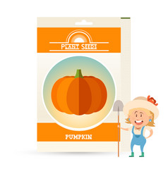 Pack of pumpkin seeds vector