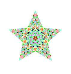 Polygonal geometrical colorful triangle star vector