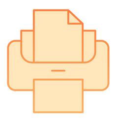 Printer flat icon print vector
