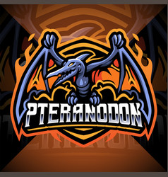 pteranodon esport mascot logo design vector image