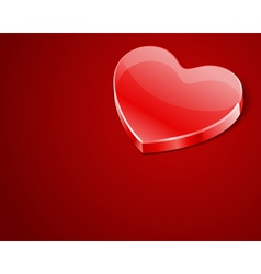 red shiny glass heart vector image