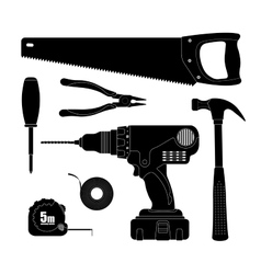 Renovation tools silhouettes vector image