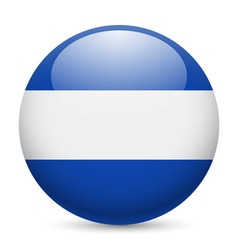 Round glossy icon of el salvador vector