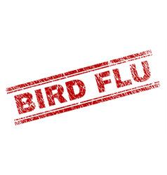 Scratched textured bird flu stamp seal vector