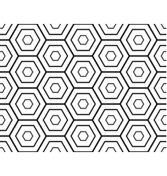 seamless geometric hexagonal mosaic pattern vector image