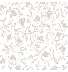 seamless pattern with golden ornament white vector image