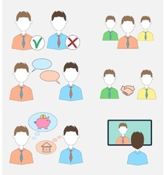 Set of human resources icons vector