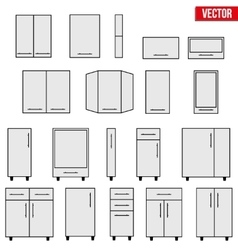 Set of Modular kitchen objects vector image